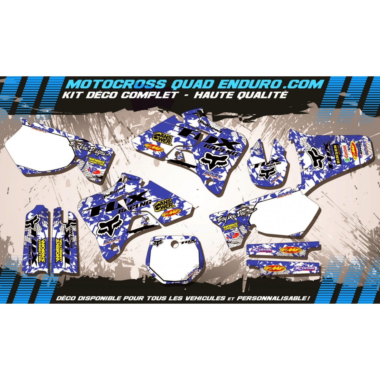 KIT DÉCO Perso 125-250 YZ 96-01 FOX MA9E