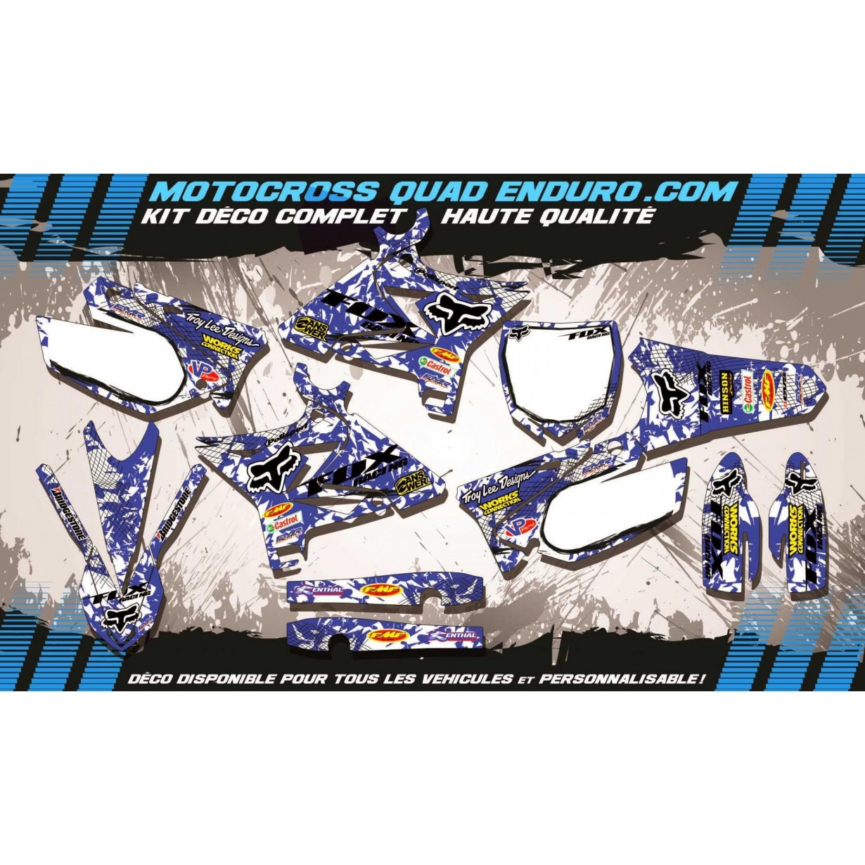 KIT DÉCO Perso 125-250 YZ 02-14 FOX MA9E