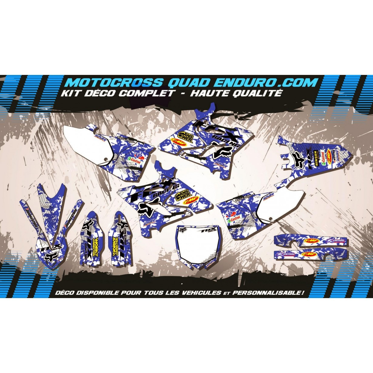 KIT DÉCO Perso 125-250 YZ 15-17 FOX MA9E