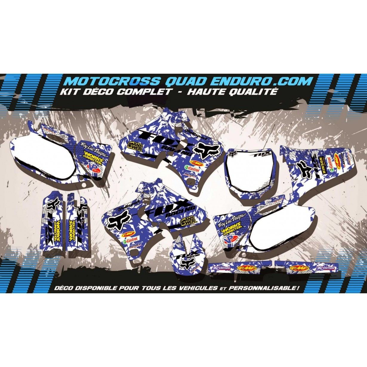 KIT DÉCO Perso 250-400-426 YZF 98-02 FOX MA9E