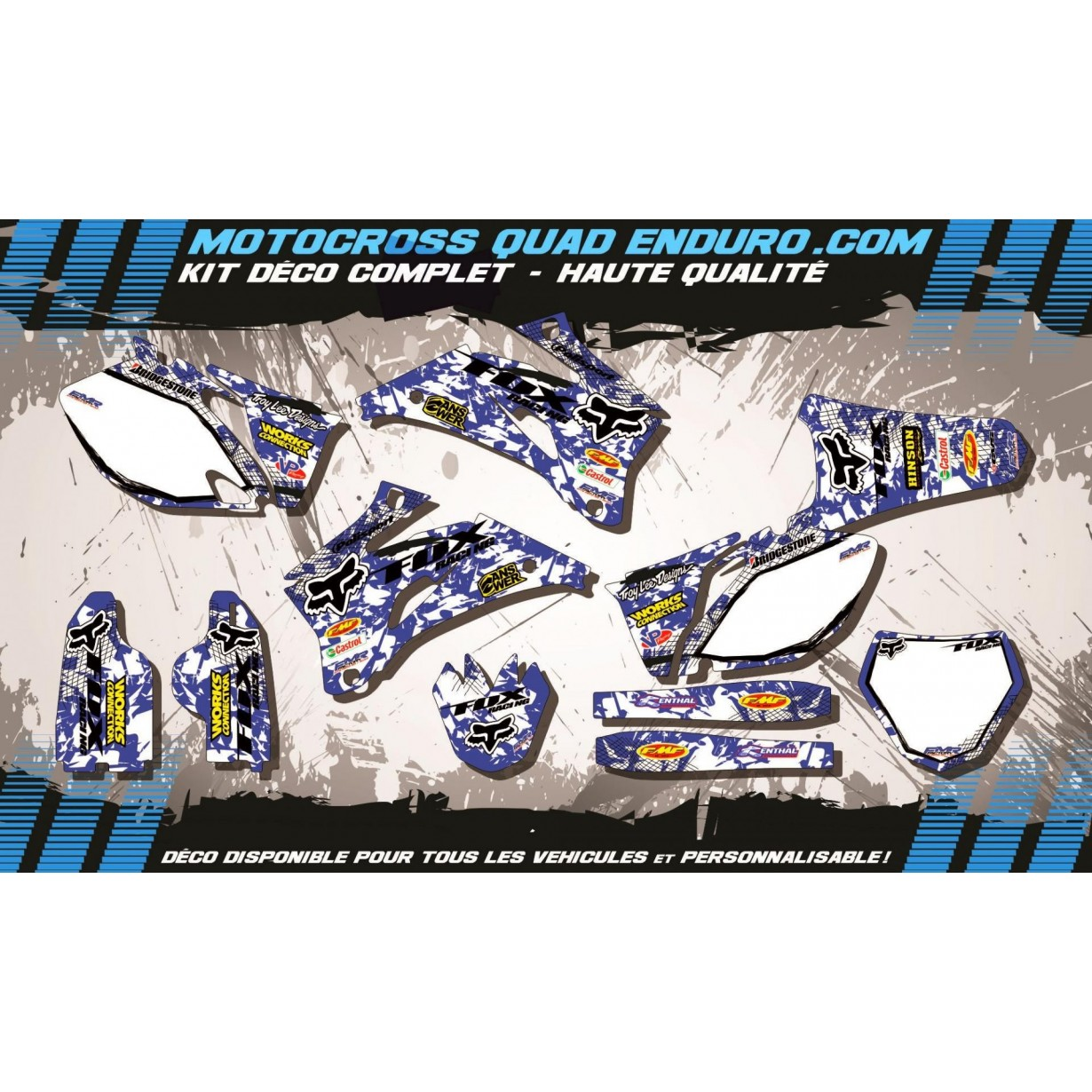 KIT DÉCO Perso 250 / 450 YZF 06-09 FOX MA9E