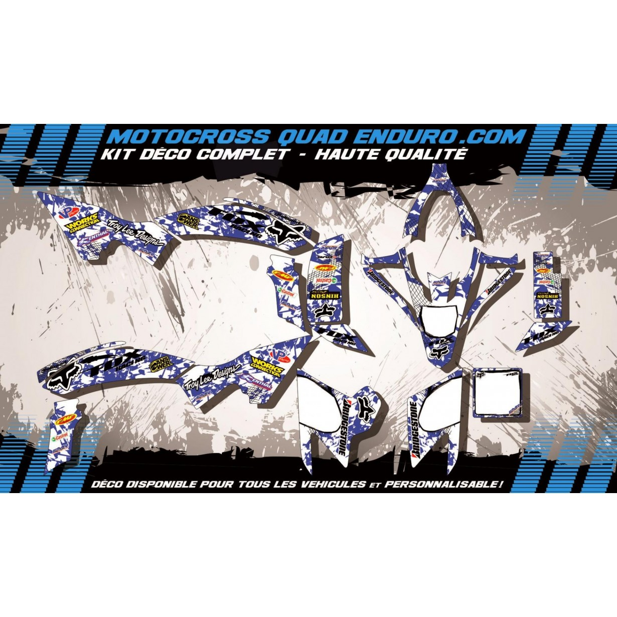 KIT DÉCO Perso 450 YFZ-R 09-15 QUAD FOX MA9E