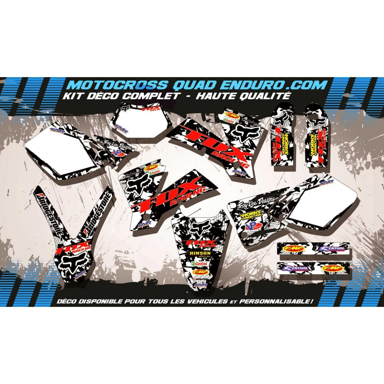 KIT DÉCO Perso EXC 450-525 03 FOX MA9F