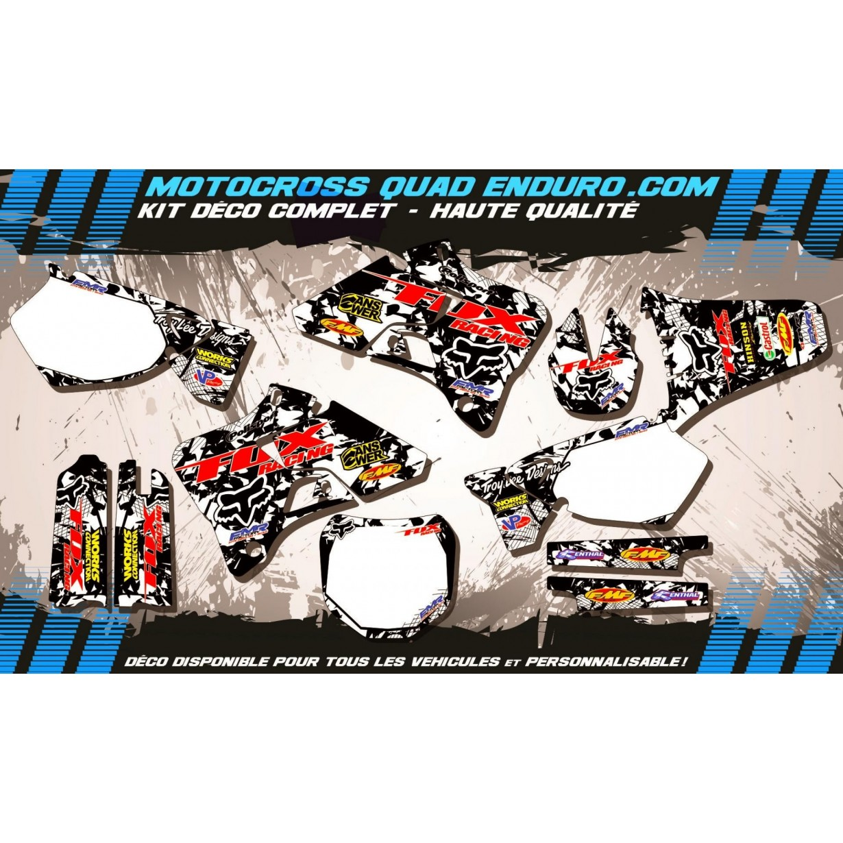 KIT DÉCO Perso 125-250 YZ 96-01 FOX MA9F