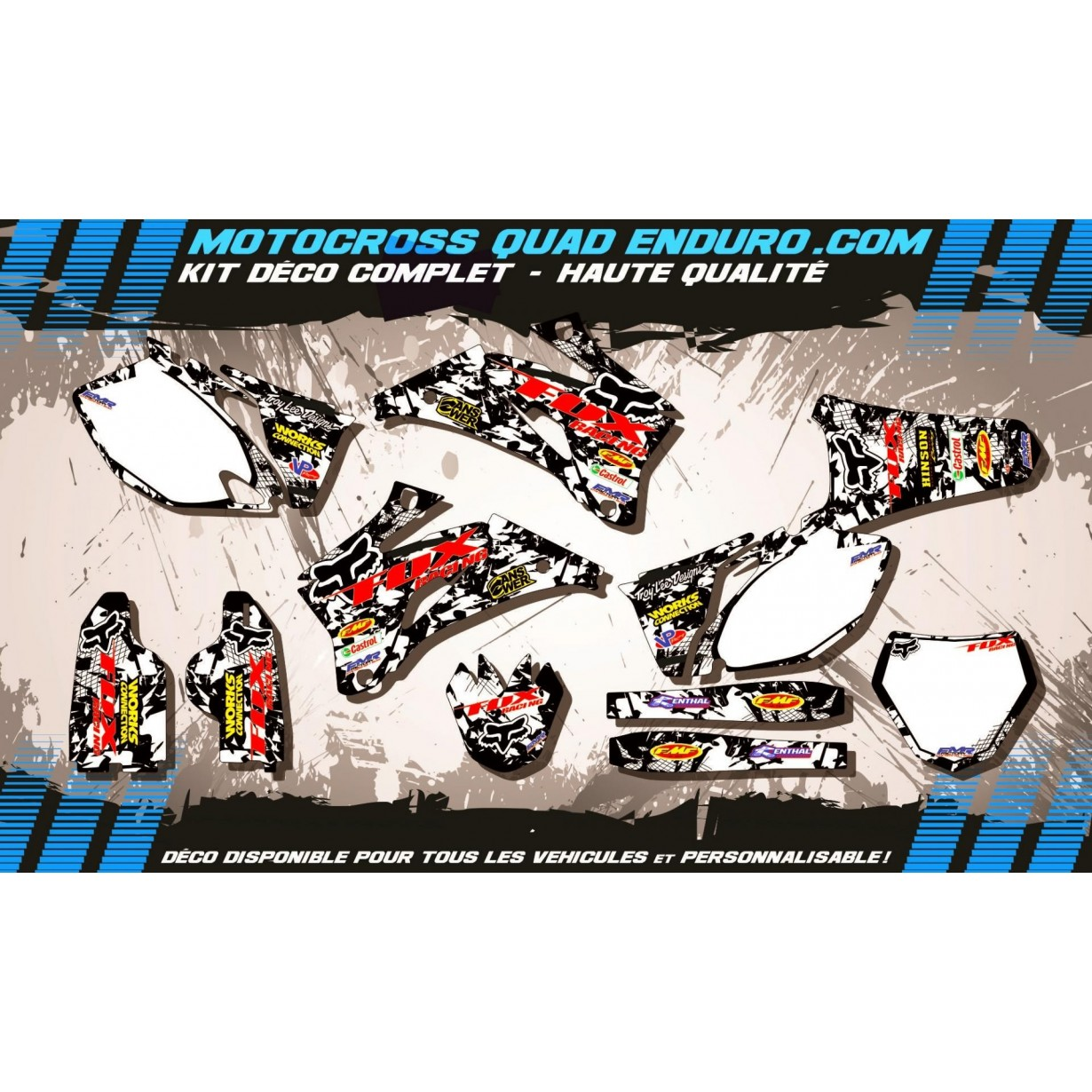 KIT DÉCO Perso 250 / 450 YZF 06-09 FOX MA9F
