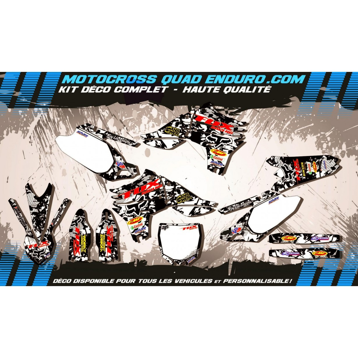 KIT DÉCO Perso 450 YZF 10-14 FOX MA9F