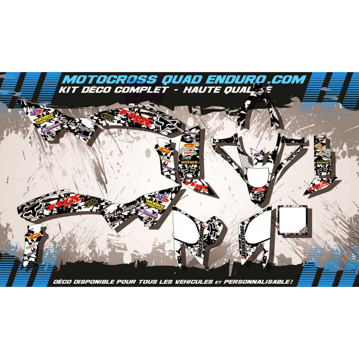 KIT DÉCO Perso 450 YFZ-R 09-15 QUAD FOX MA9F