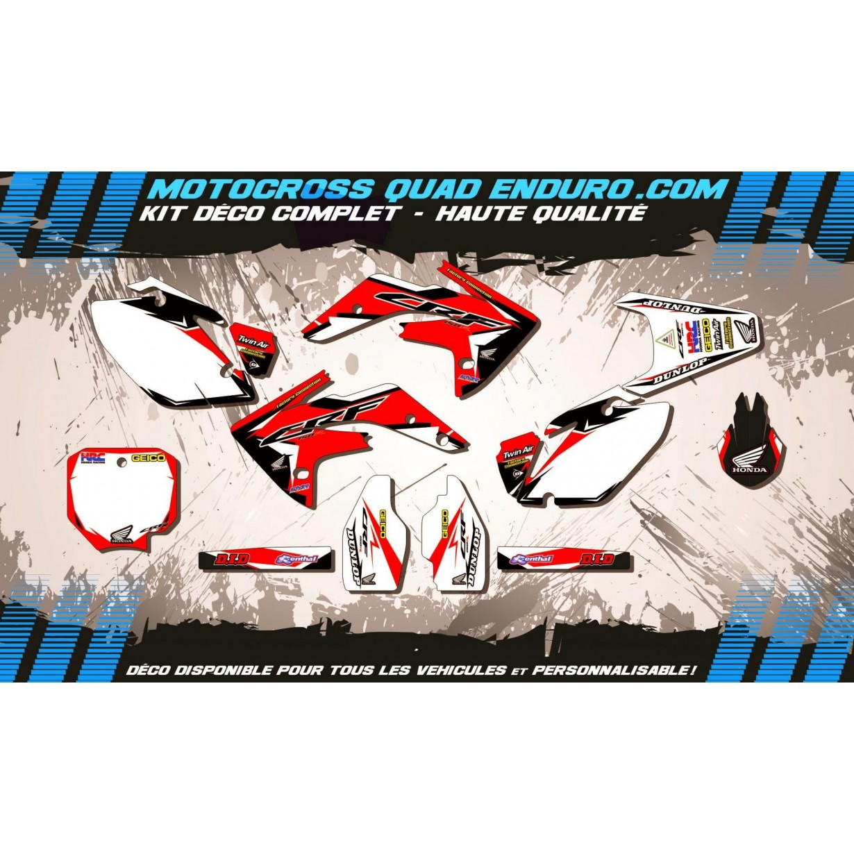 KIT DÉCO Perso 150 CRF 07-18 Factory Replica HONDA MA10A