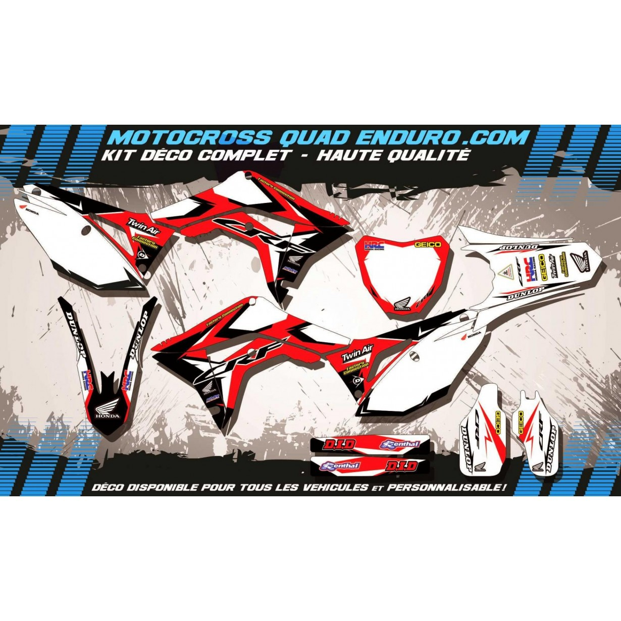 KIT DÉCO Perso 450 CRF 13-18 Factory Replica HONDA MA10A
