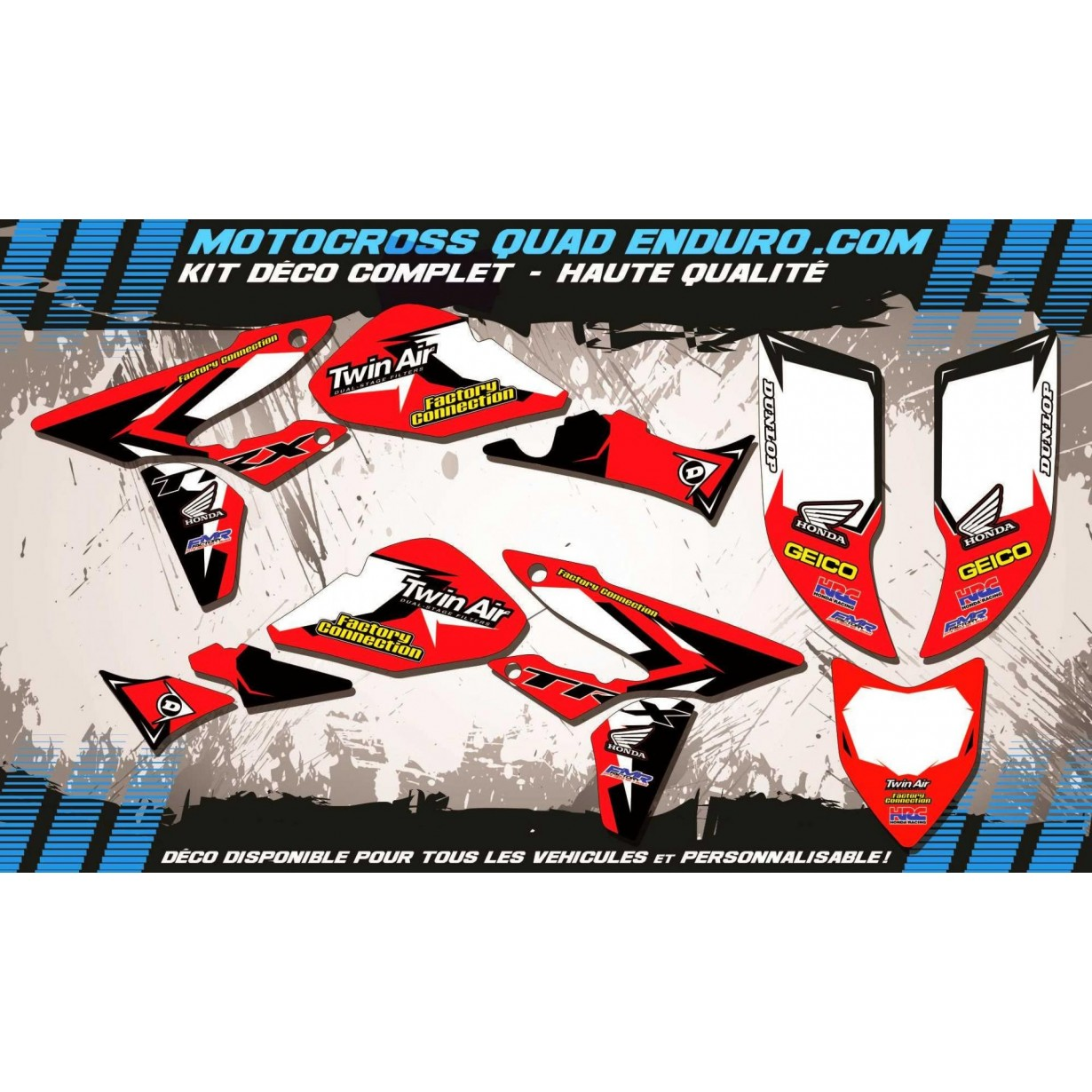 KIT DÉCO Perso 450 TRX 06-15 Quad Factory Replica HONDA MA10A