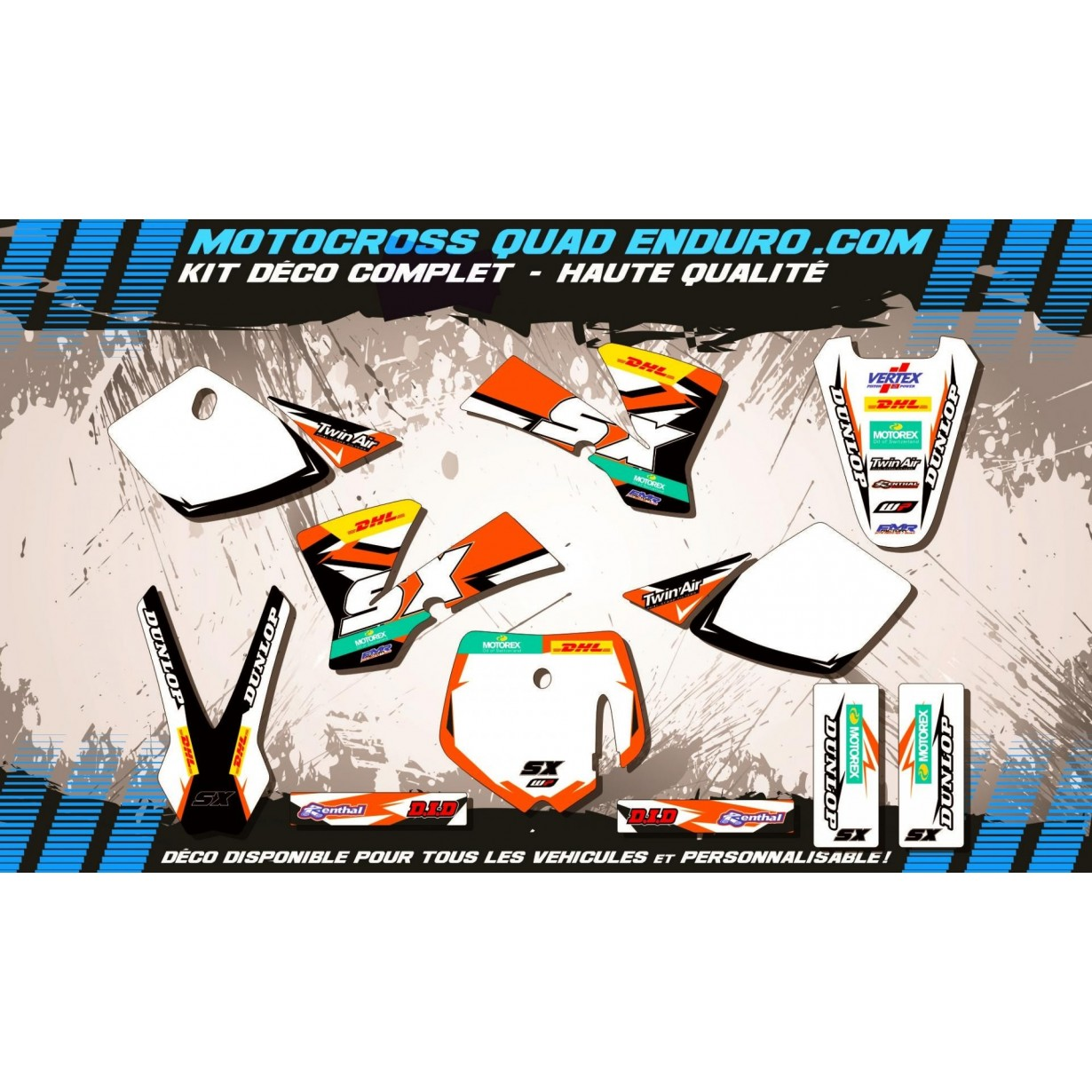 KIT DÉCO Perso 50 SX 02-08 Factory Replica KTM MA10C