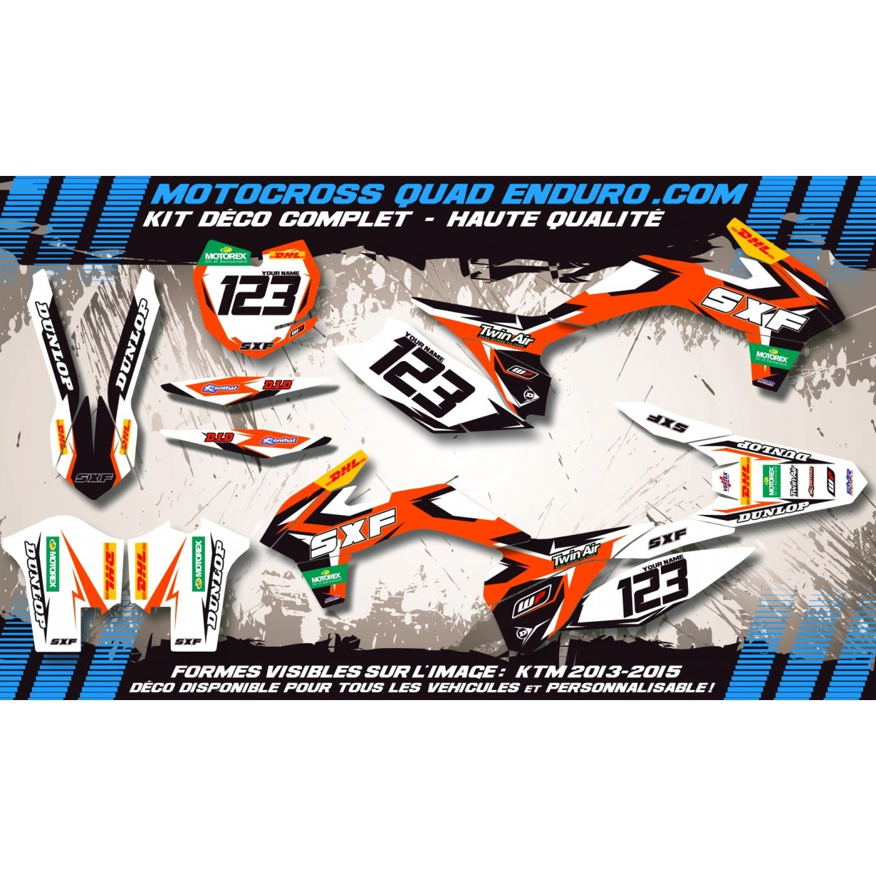 KIT DÉCO Perso 65 SX 16-18 Factory Replica KTM MA10C