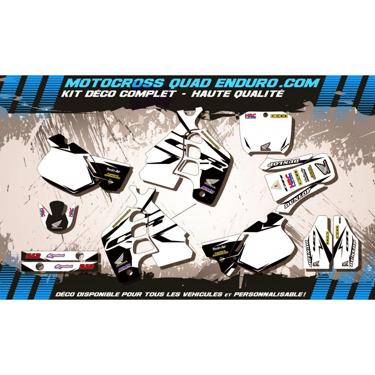 KIT DÉCO Perso 500 CR 91-01 Factory White Edition MA10AW