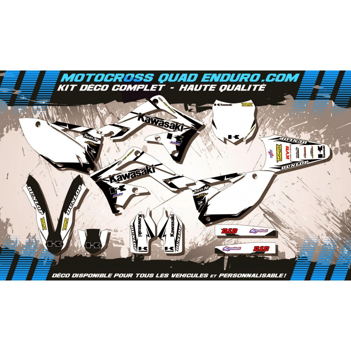 KIT DÉCO Perso 450 KXF 13-15 Factory White Edition MA10BW
