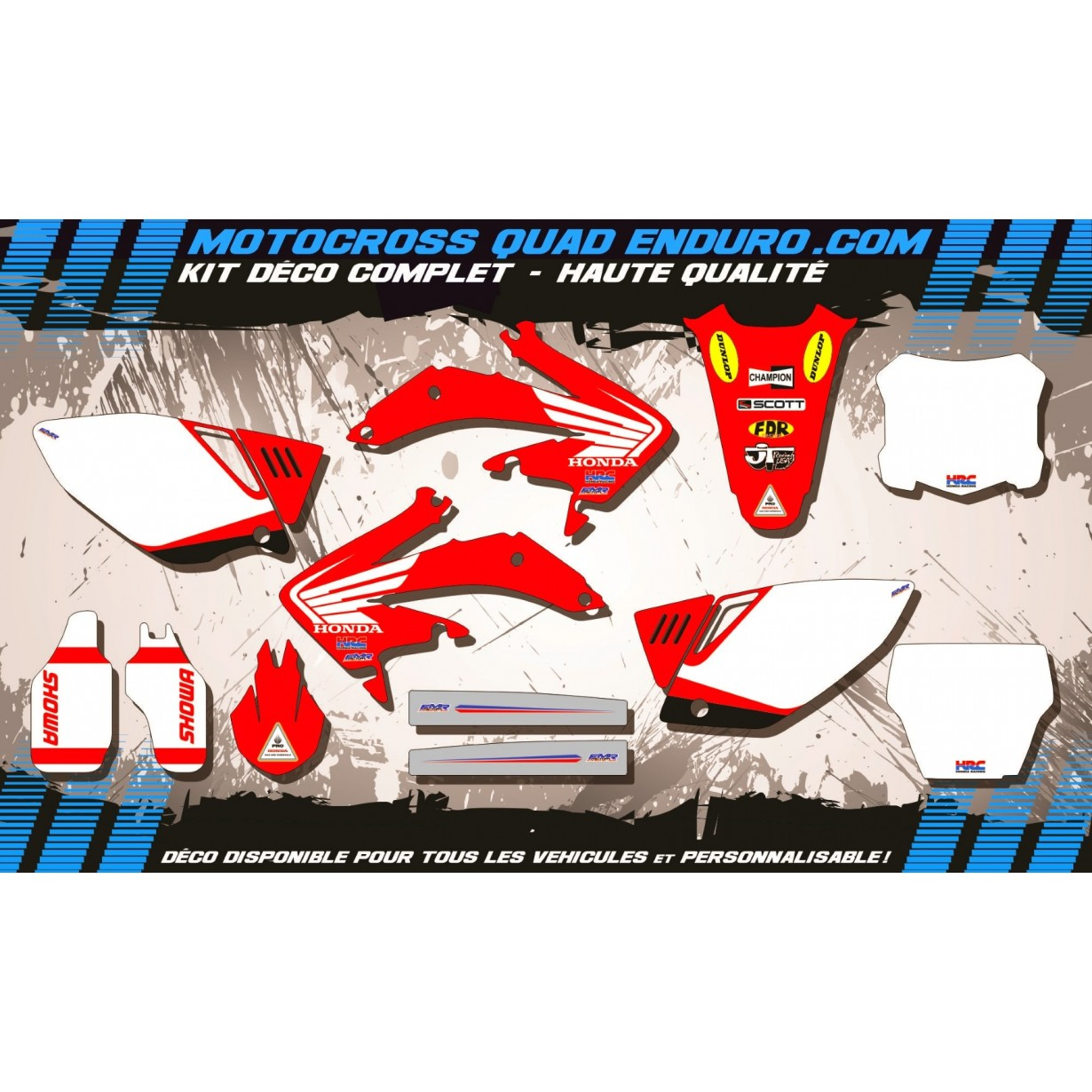 KIT DÉCO Perso 450 CRF 02-04 Bailey Replica MA11A