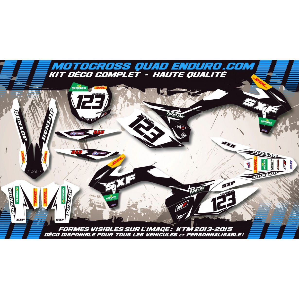 KIT DÉCO Perso SXC 625 98-07 Factory Black Edition MA10CB