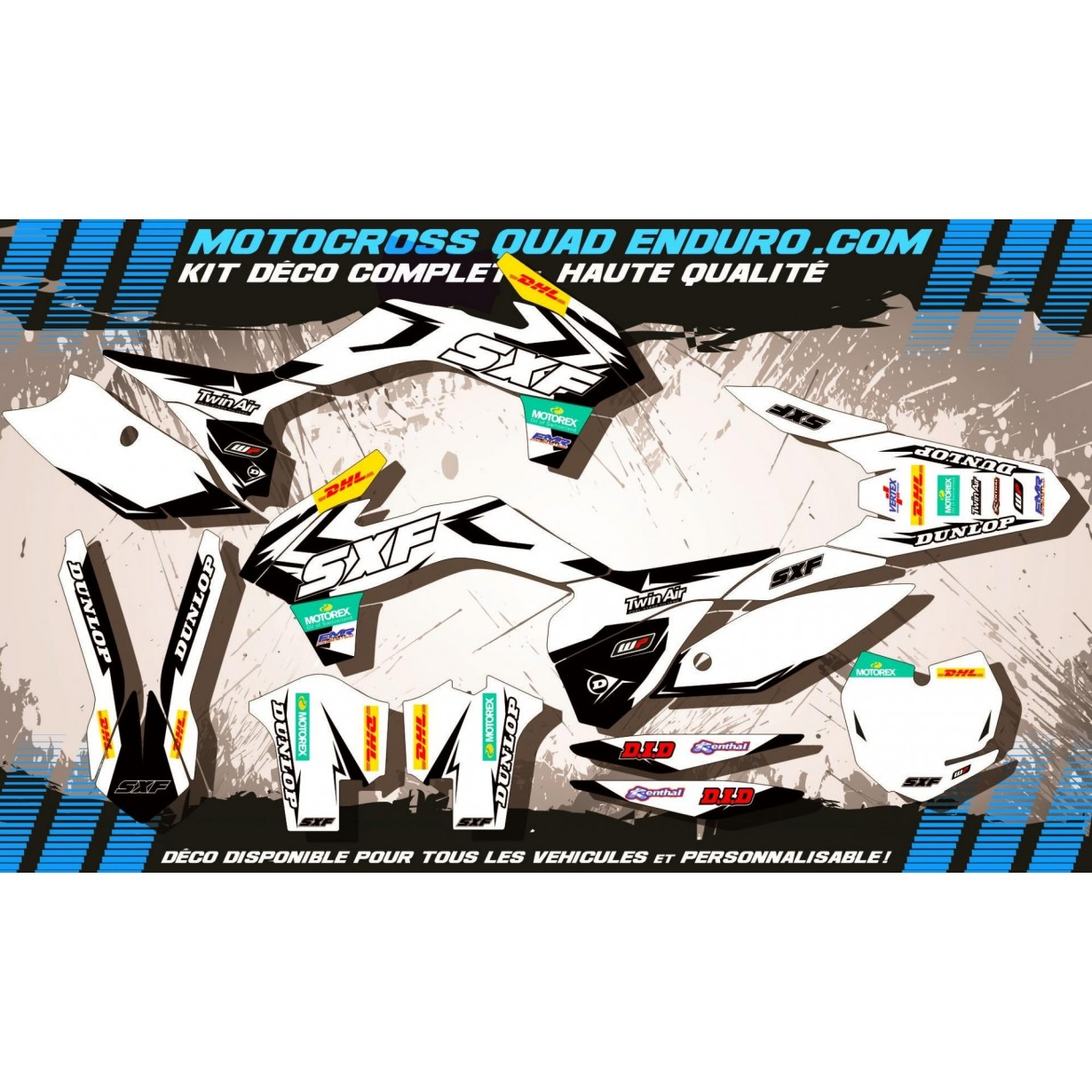 KIT DÉCO Perso SX-SXF 13-15 Factory White Edition MA10CW
