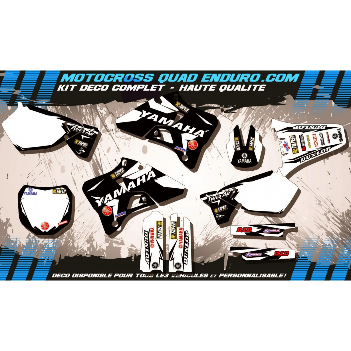 KIT DÉCO Perso 125-250 YZ 96-01 Factory Black Edition MA10EB