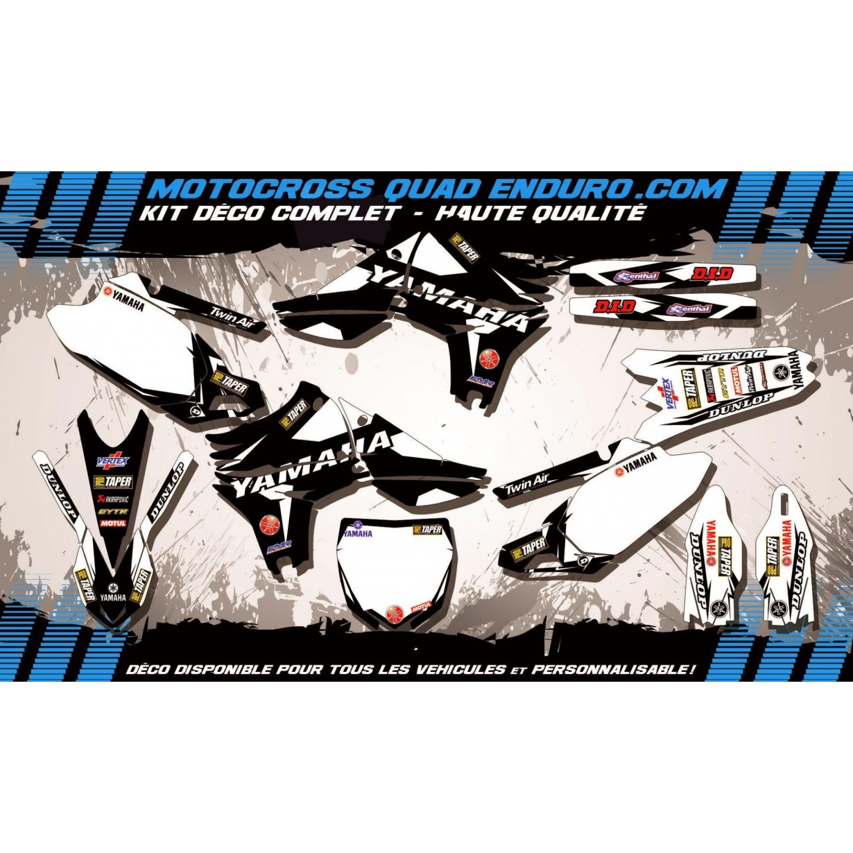 KIT DÉCO Perso 450 YZF 10-14 Factory Black Edition MA10EB