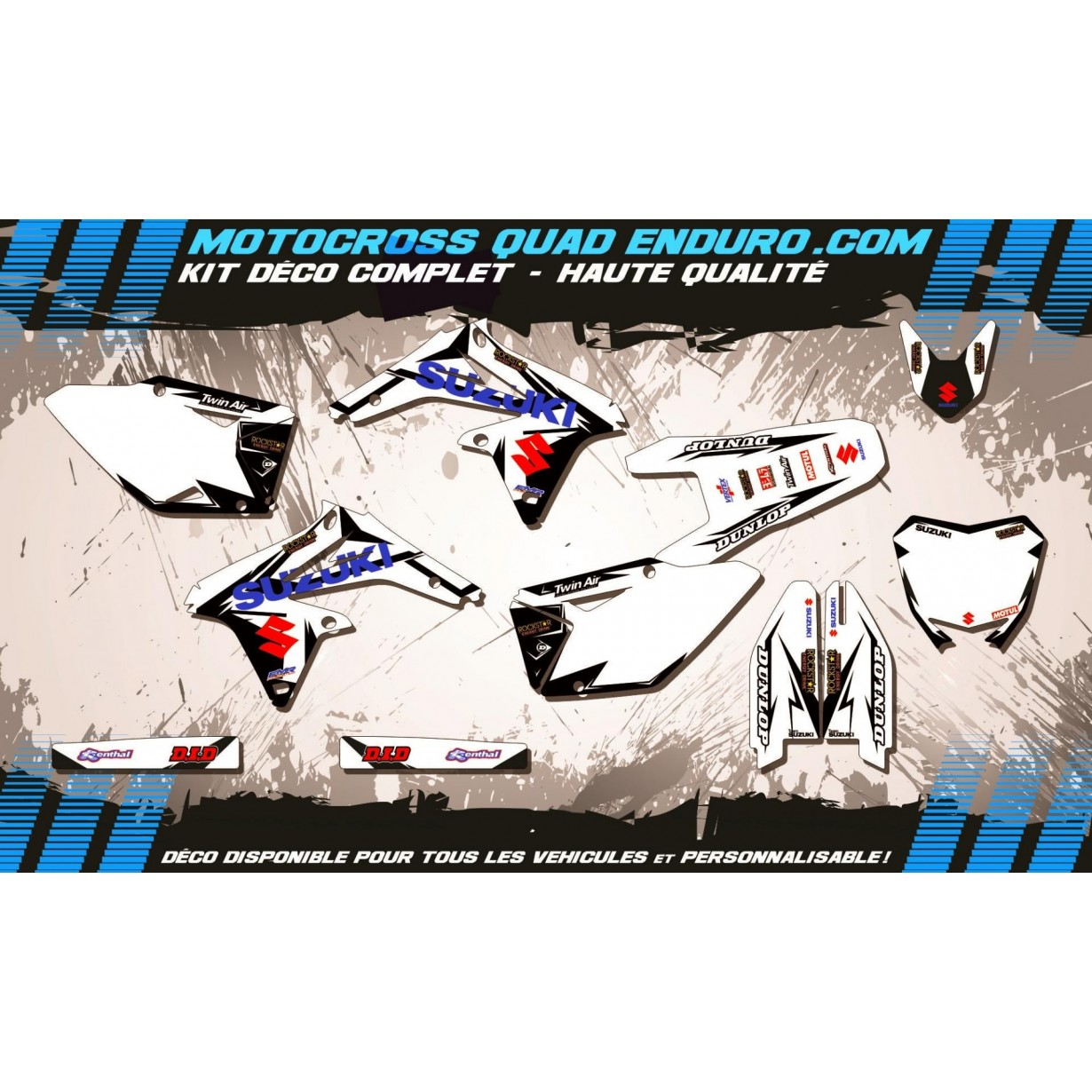 KIT DÉCO Perso 450 RMZ 08-17 Factory White Edition MA10DW
