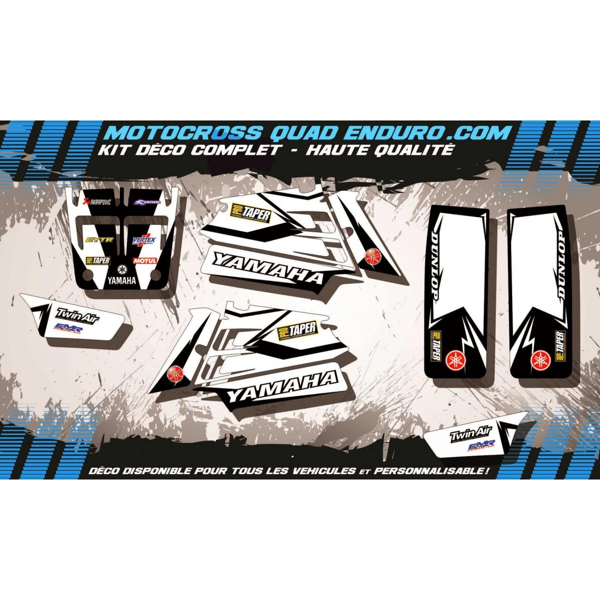 KIT DÉCO Perso 350 BANSHEE Factory White Edition MA10EW