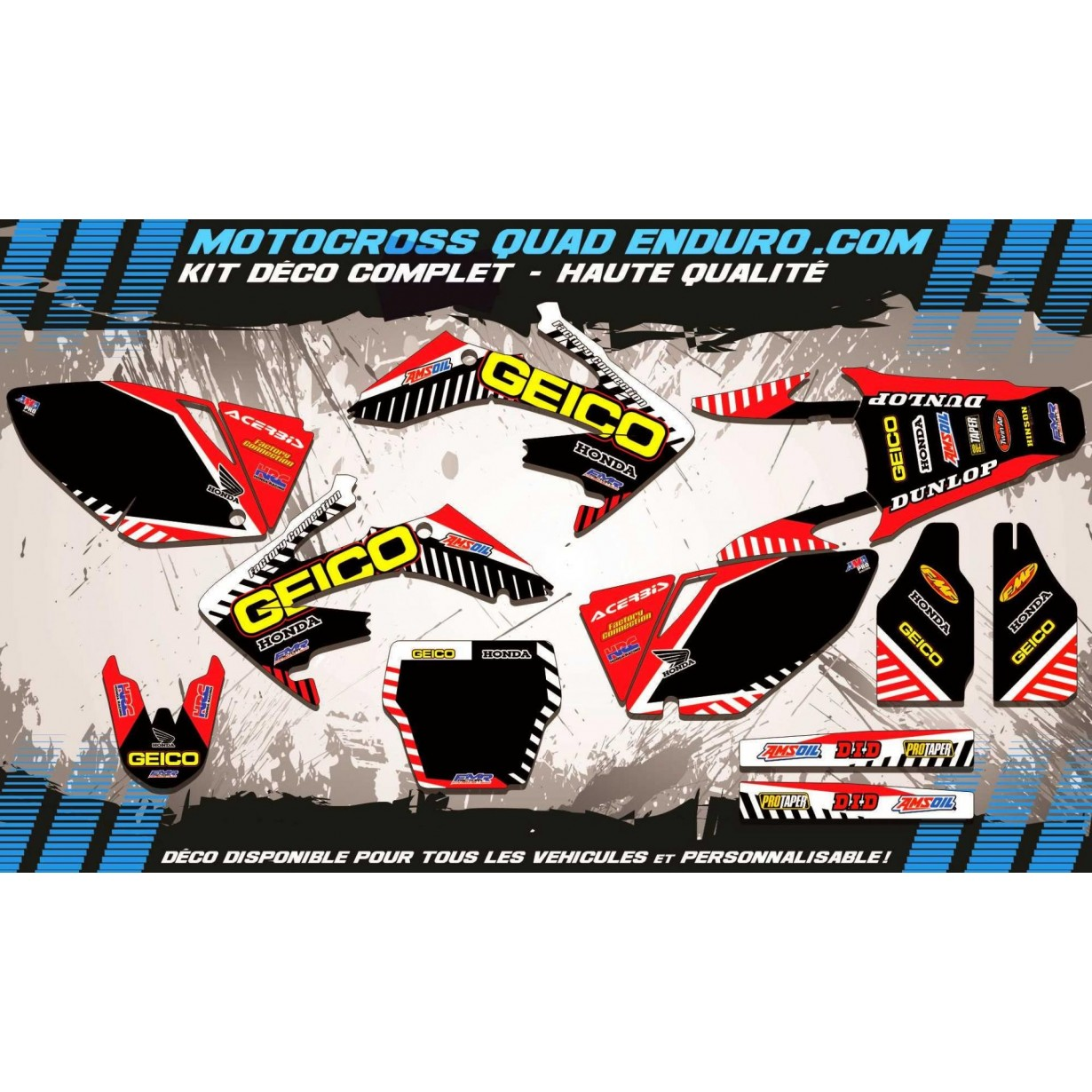 KIT DÉCO Perso 250 CRF 04-05 GEICO MA12A