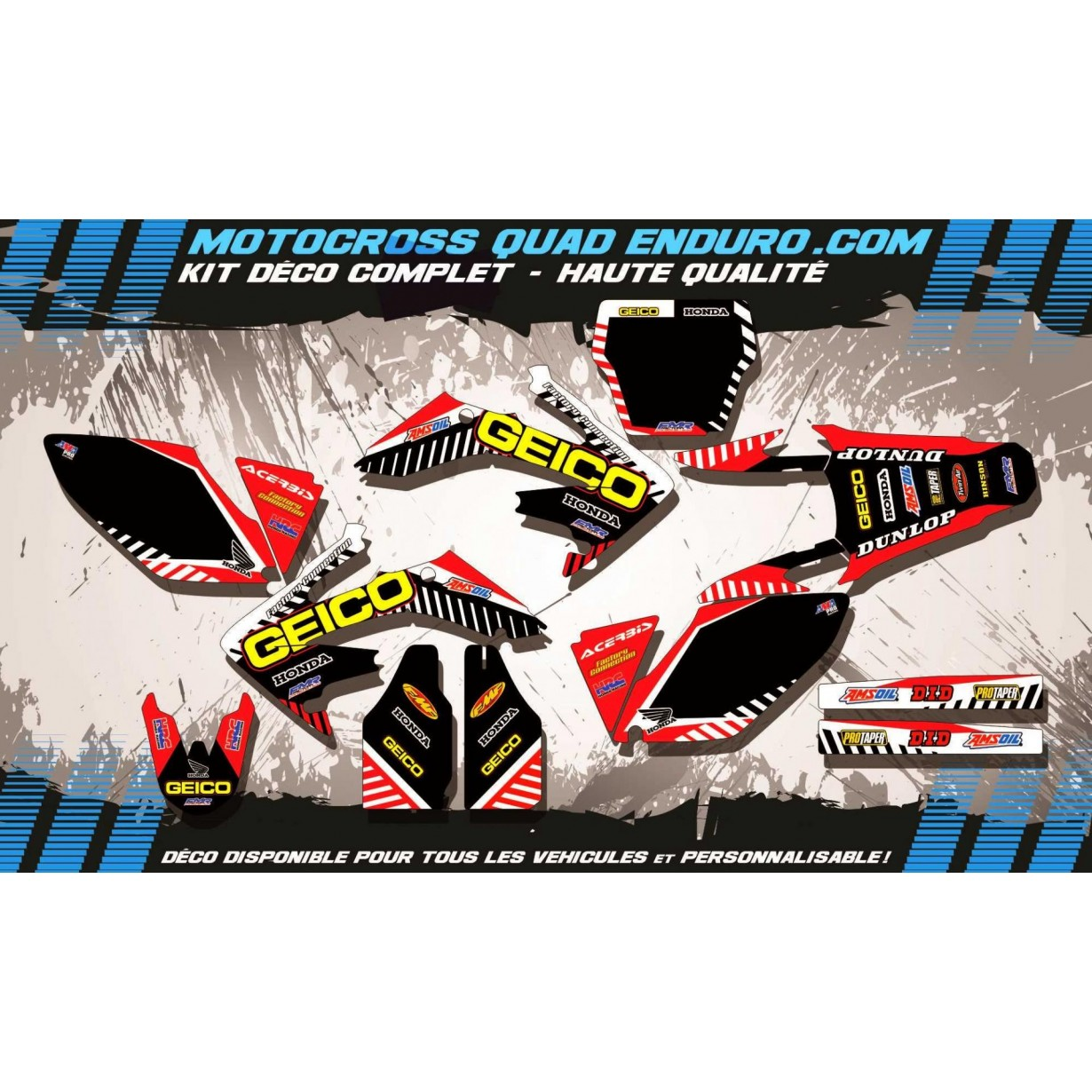 KIT DÉCO Perso 250 CRF 06-09 GEICO MA12A