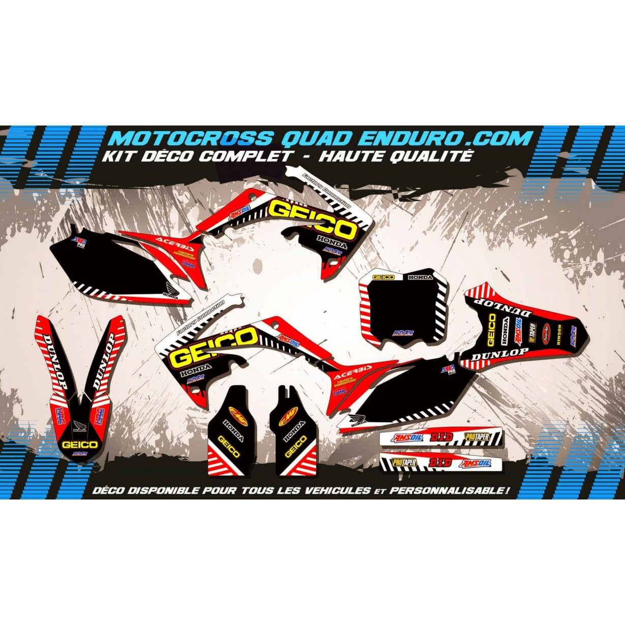 KIT DÉCO Perso 450 CRF 09-12 GEICO MA12A