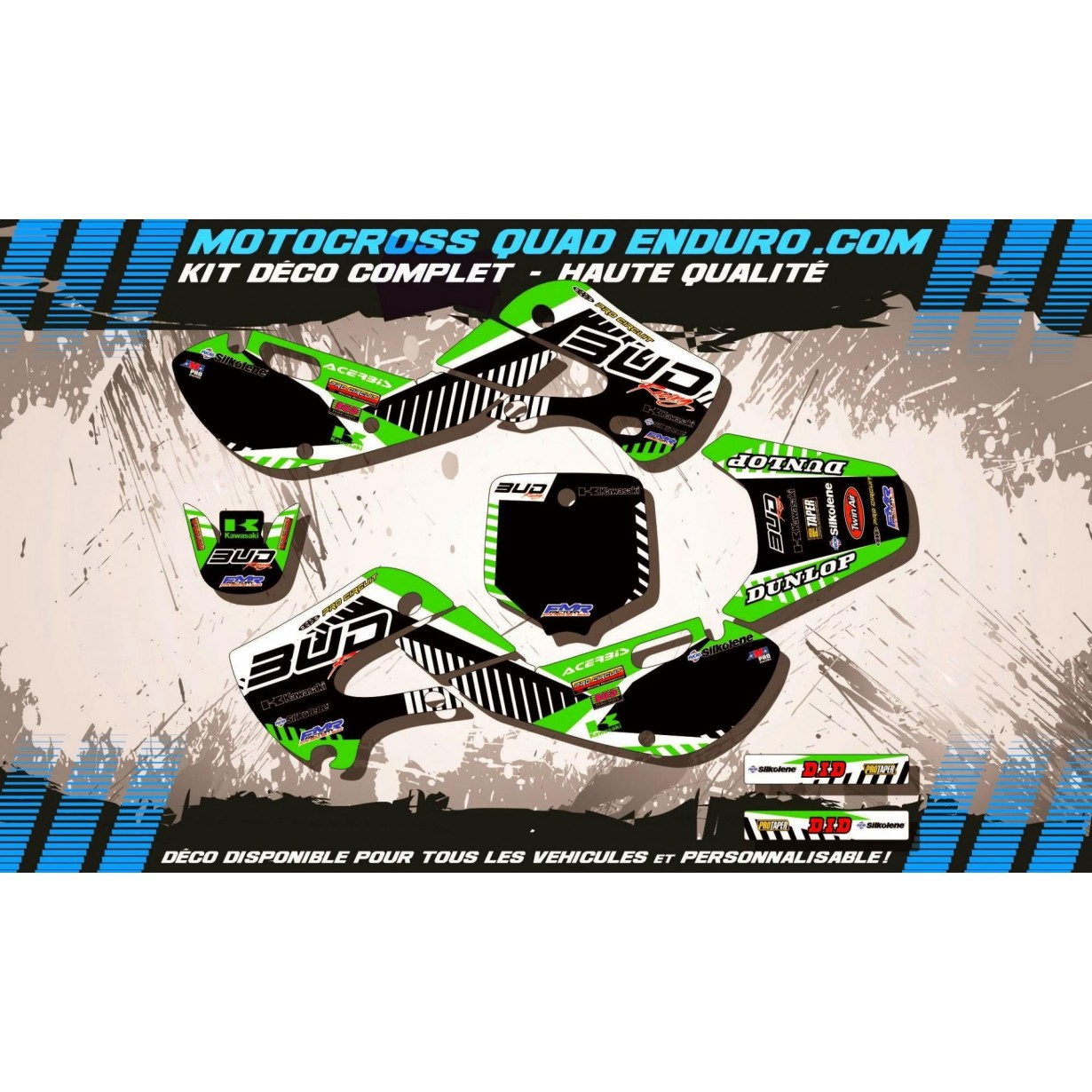 KIT DÉCO Perso 65 KX 01-18 BUD Racing MA12B