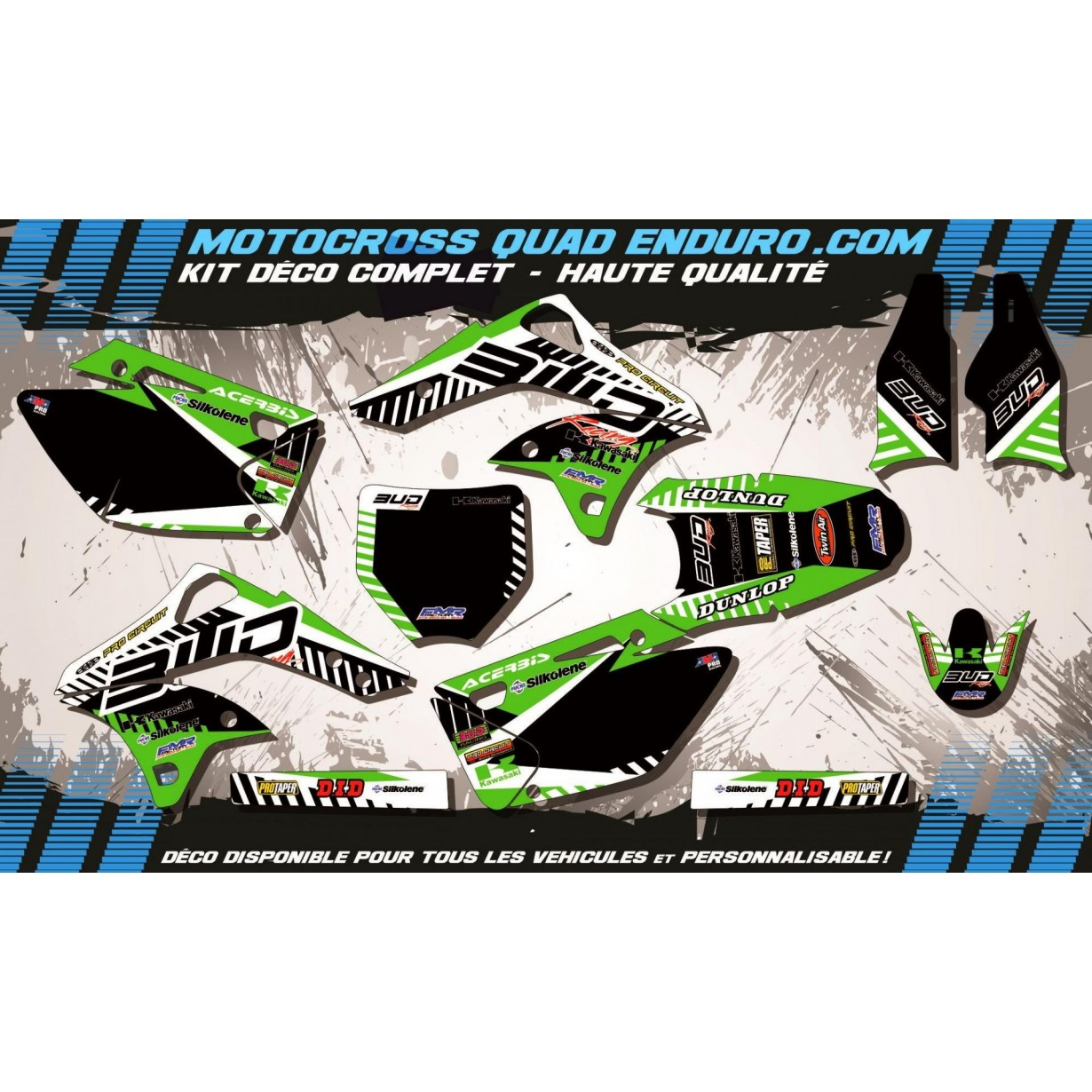 KIT DÉCO Perso 250 KXF 06-08 BUD Racing MA12B
