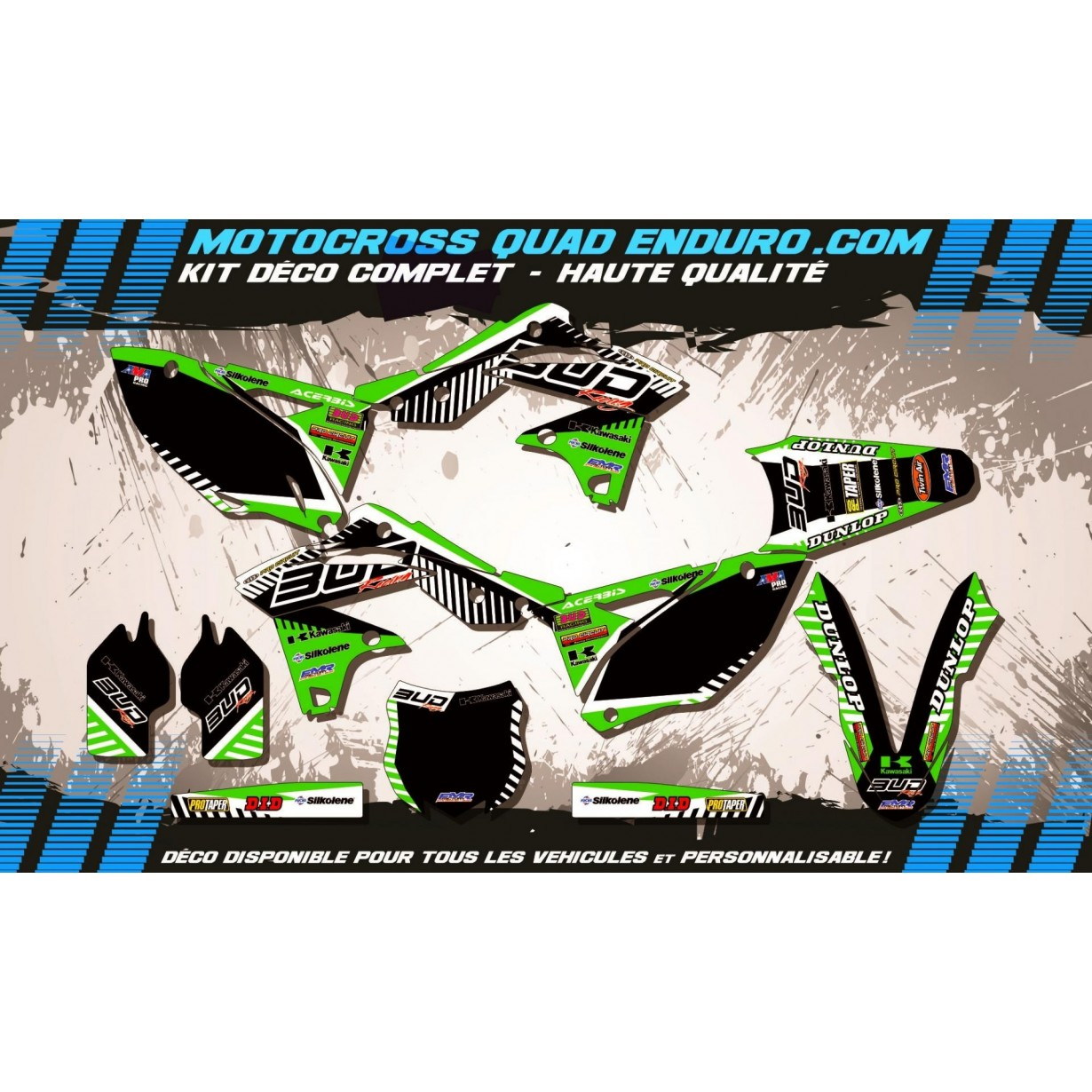 KIT DÉCO Perso 250 KXF 13-16 BUD Racing MA12B