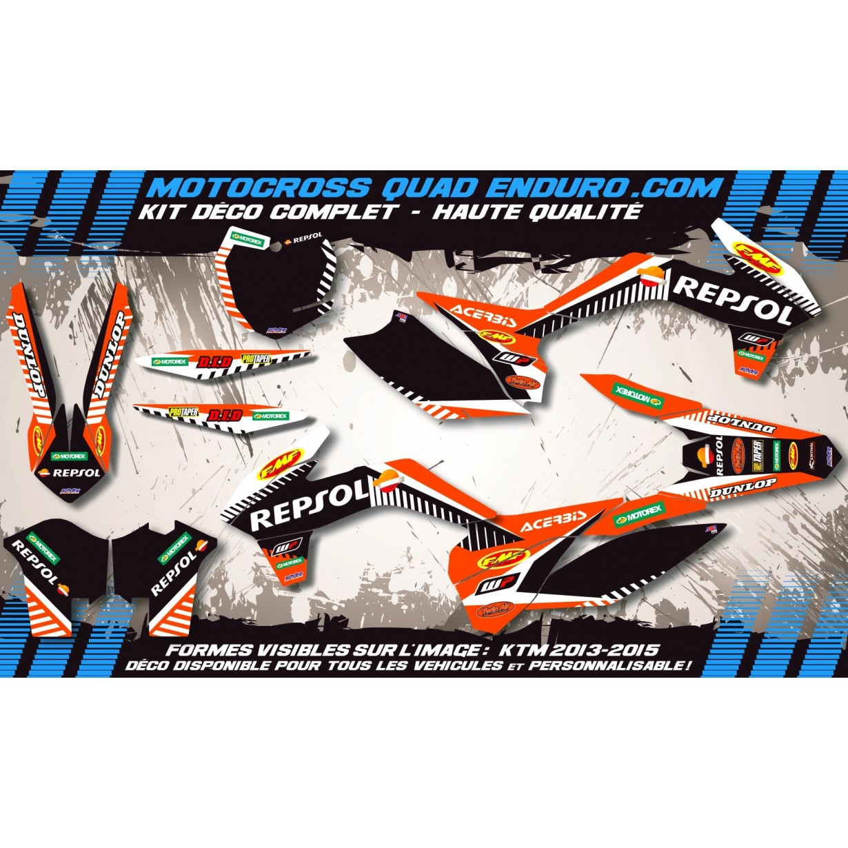 KIT DÉCO Perso Freeride Repsol MA12D