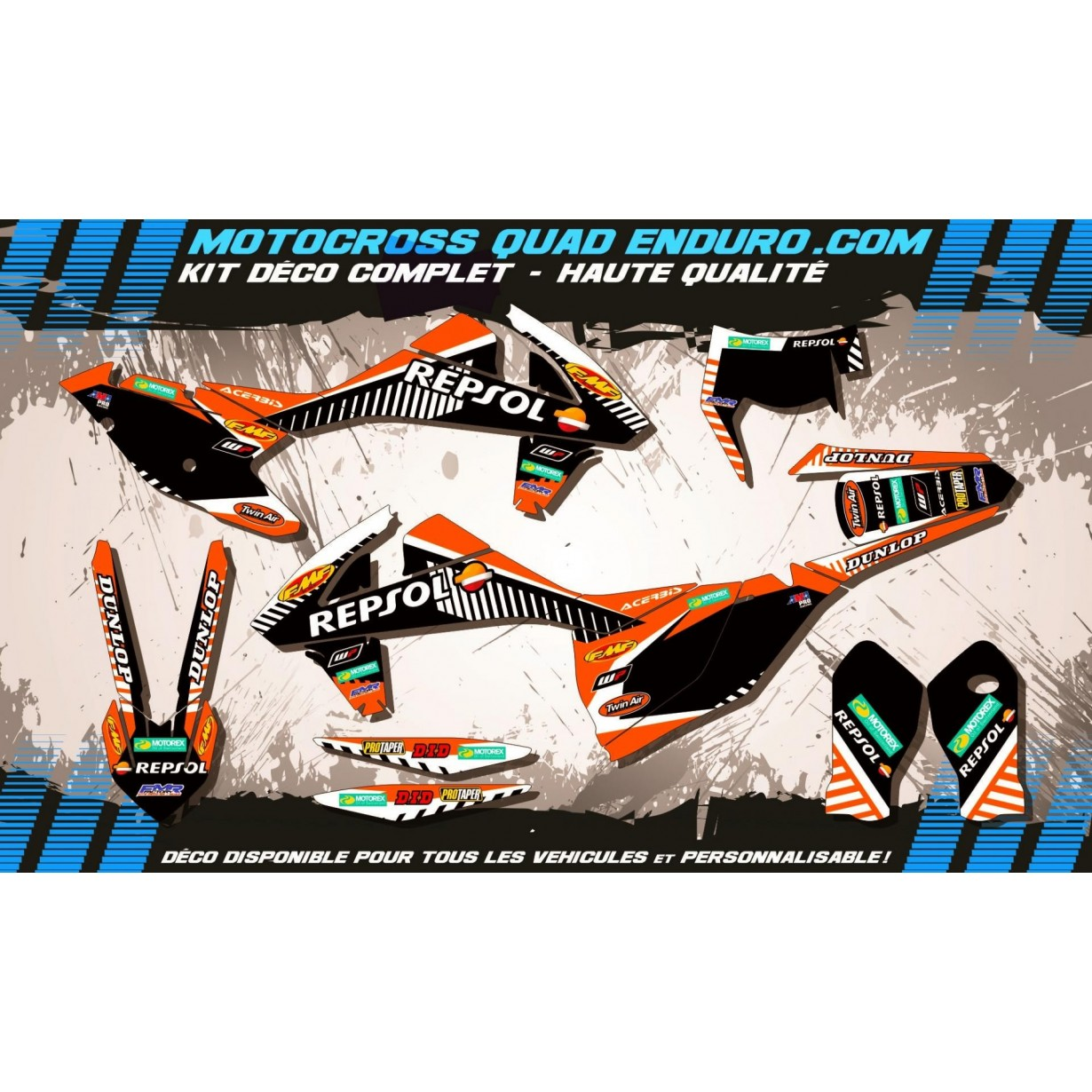 KIT DÉCO Perso EXC XC XCF 2017 Repsol MA12D