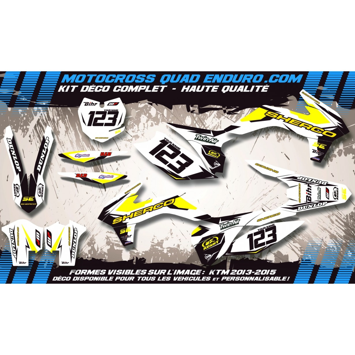 KIT DÉCO Perso SE 250 à 510 13-14 Factory White Edition MA10FW