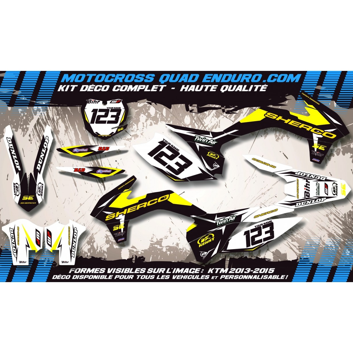 KIT DÉCO Perso SE 250 à 510 09-11 Factory Black Edition MA10FB