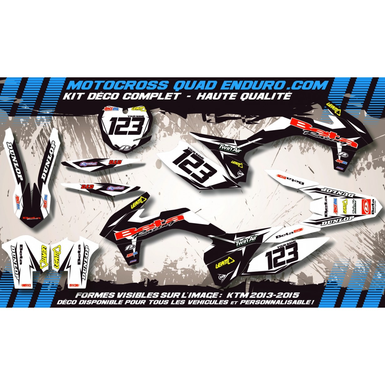 KIT DÉCO Perso RR 10-12 Factory Black Edition MA10GB (sauf 50cc)