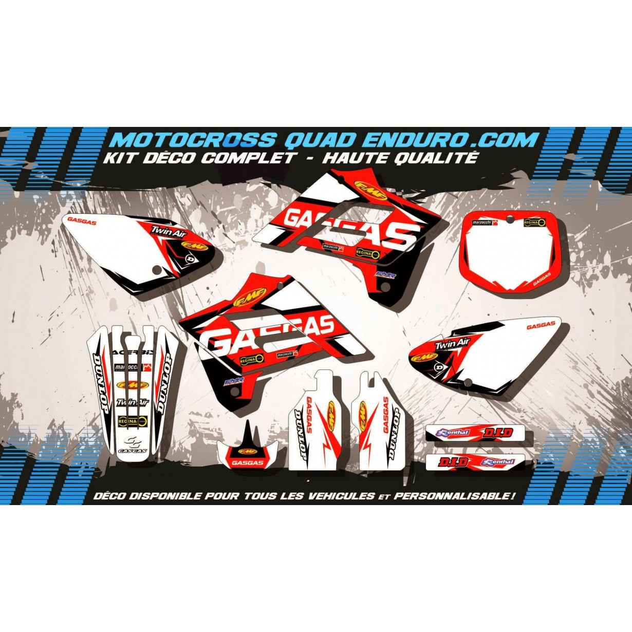 KIT DÉCO Perso MC 03-06 Factory Replica GASGAS MA10H