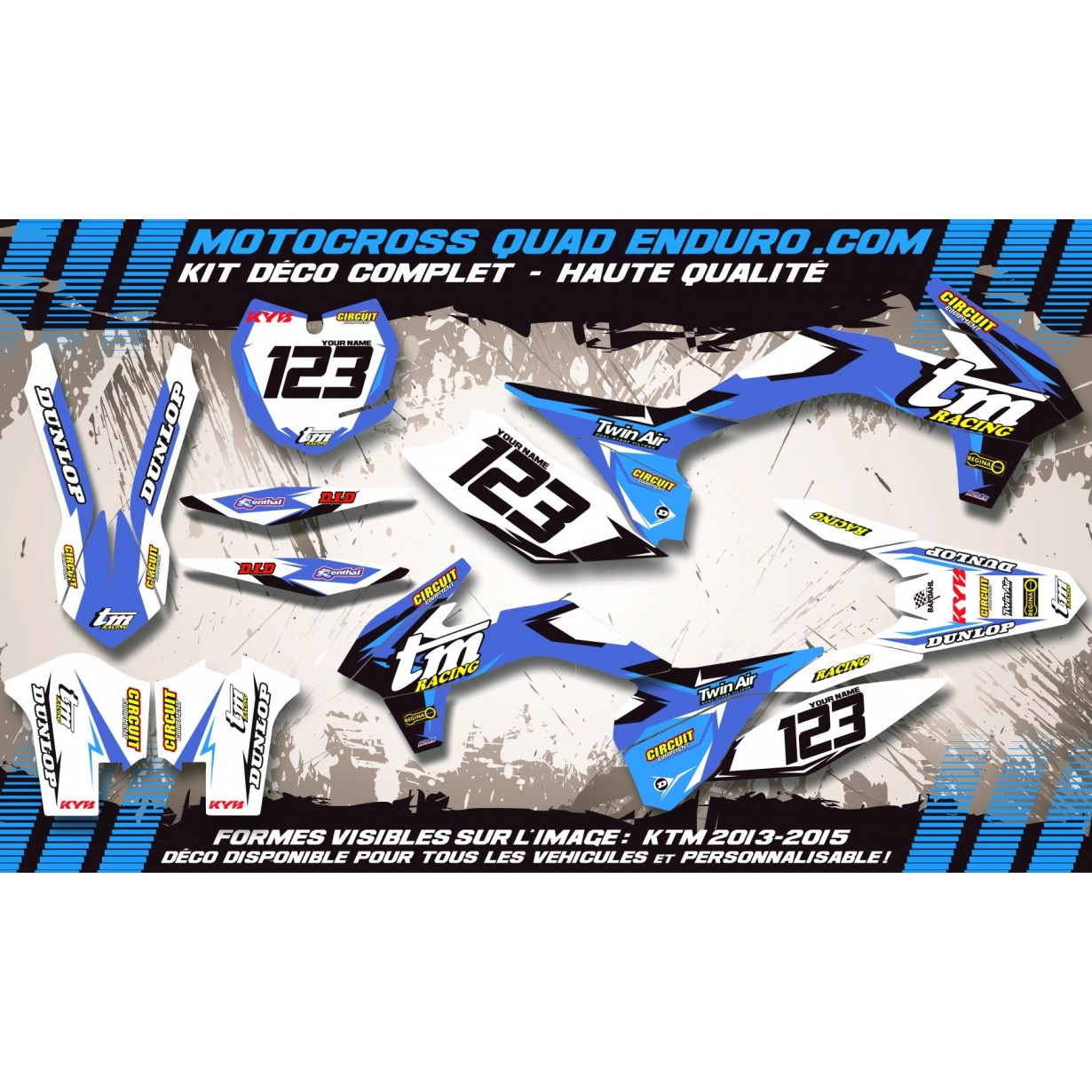 KIT DÉCO Perso MX 08-14 (2t) Factory Replica TM MA10K