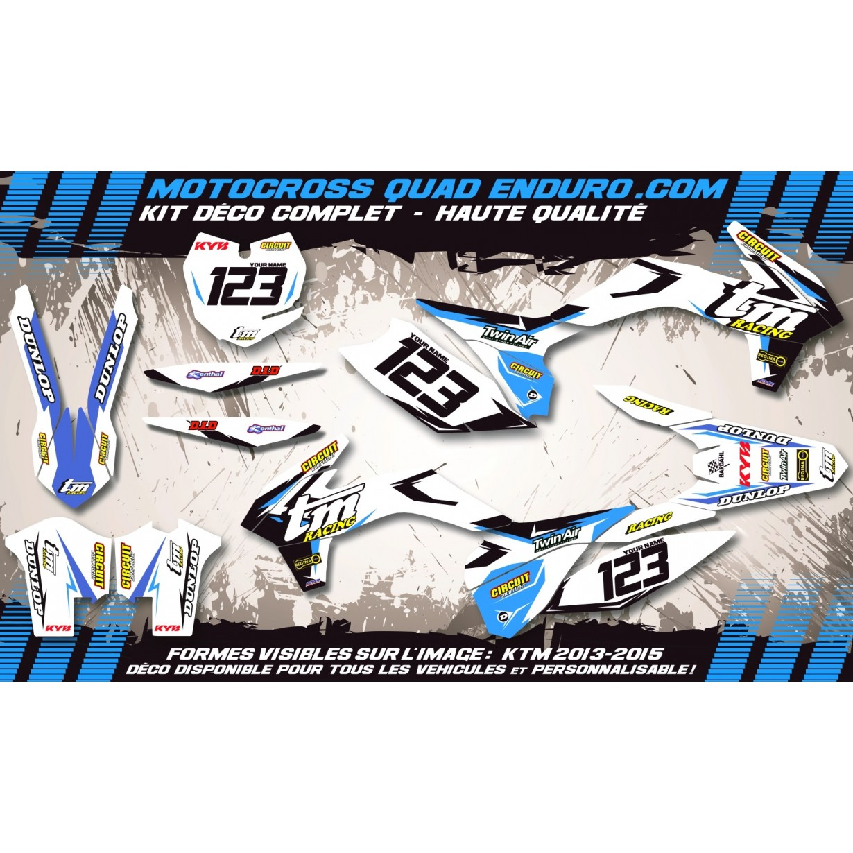 KIT DÉCO Perso MX 08-14 (2t) Factory White Edition MA10KW
