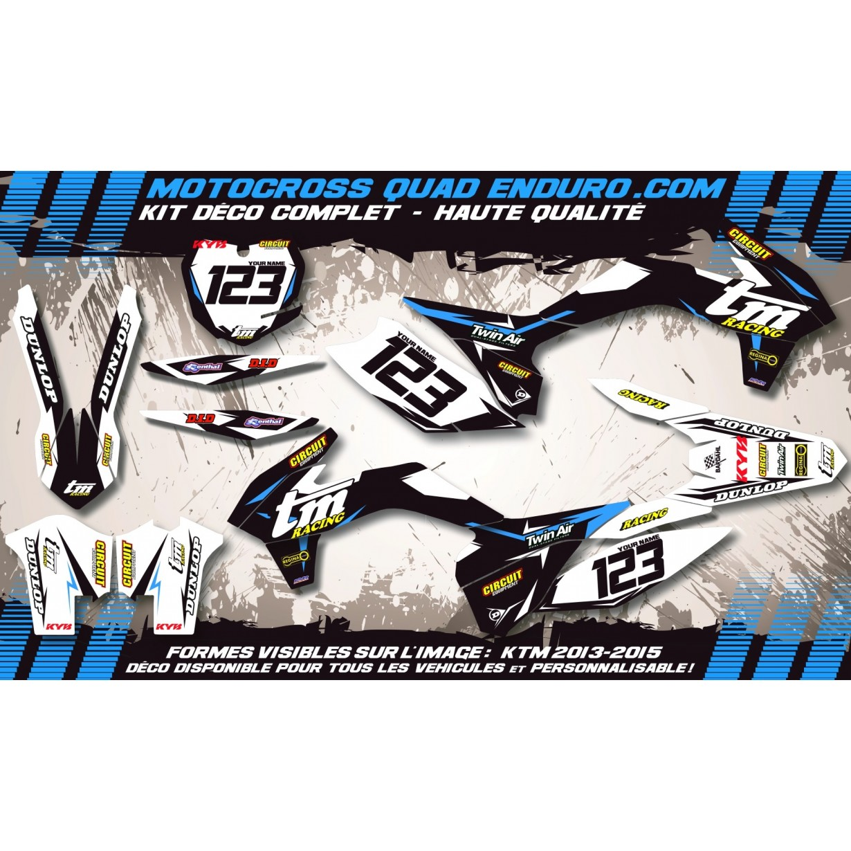 KIT DÉCO Perso MX 04-07 (4t) Factory Black Edition MA10KB