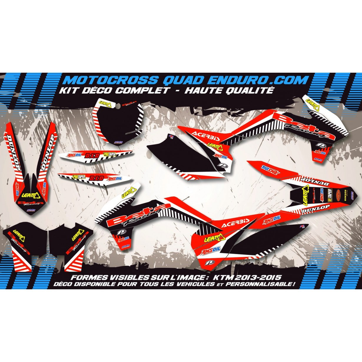 KIT DÉCO Perso 50 RR enduro 2007 Beta Racing MA12F