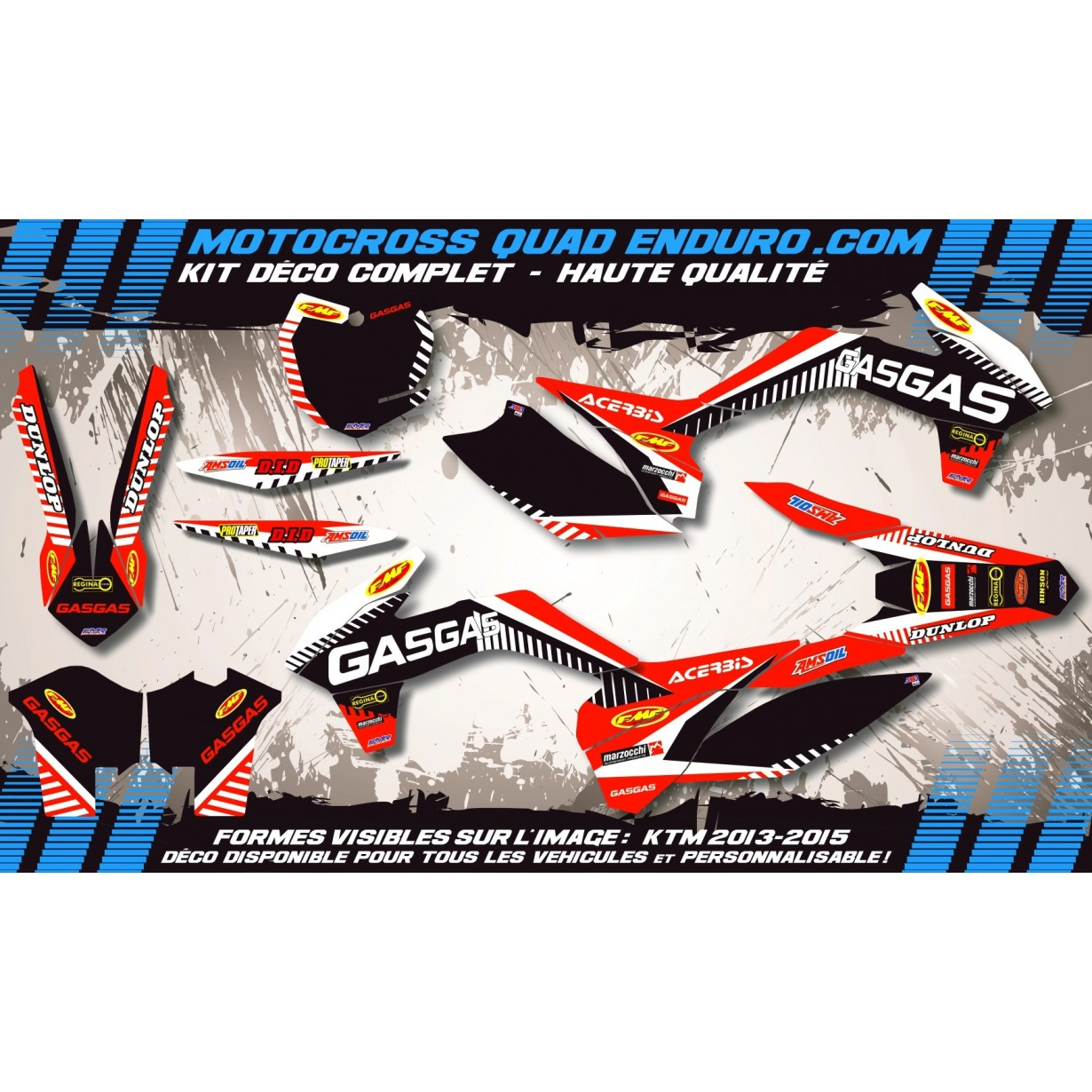 KIT DÉCO Perso MC 03-06 GASGAS Racing MA12G