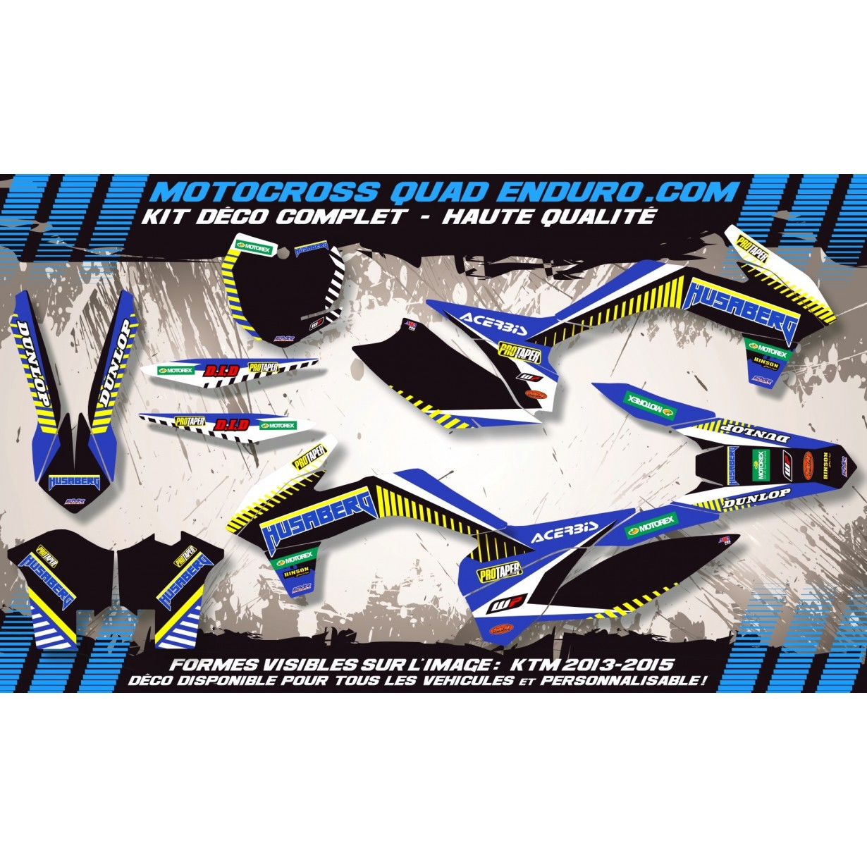 KIT DÉCO Perso FE 06-08 Husaberg MA12H