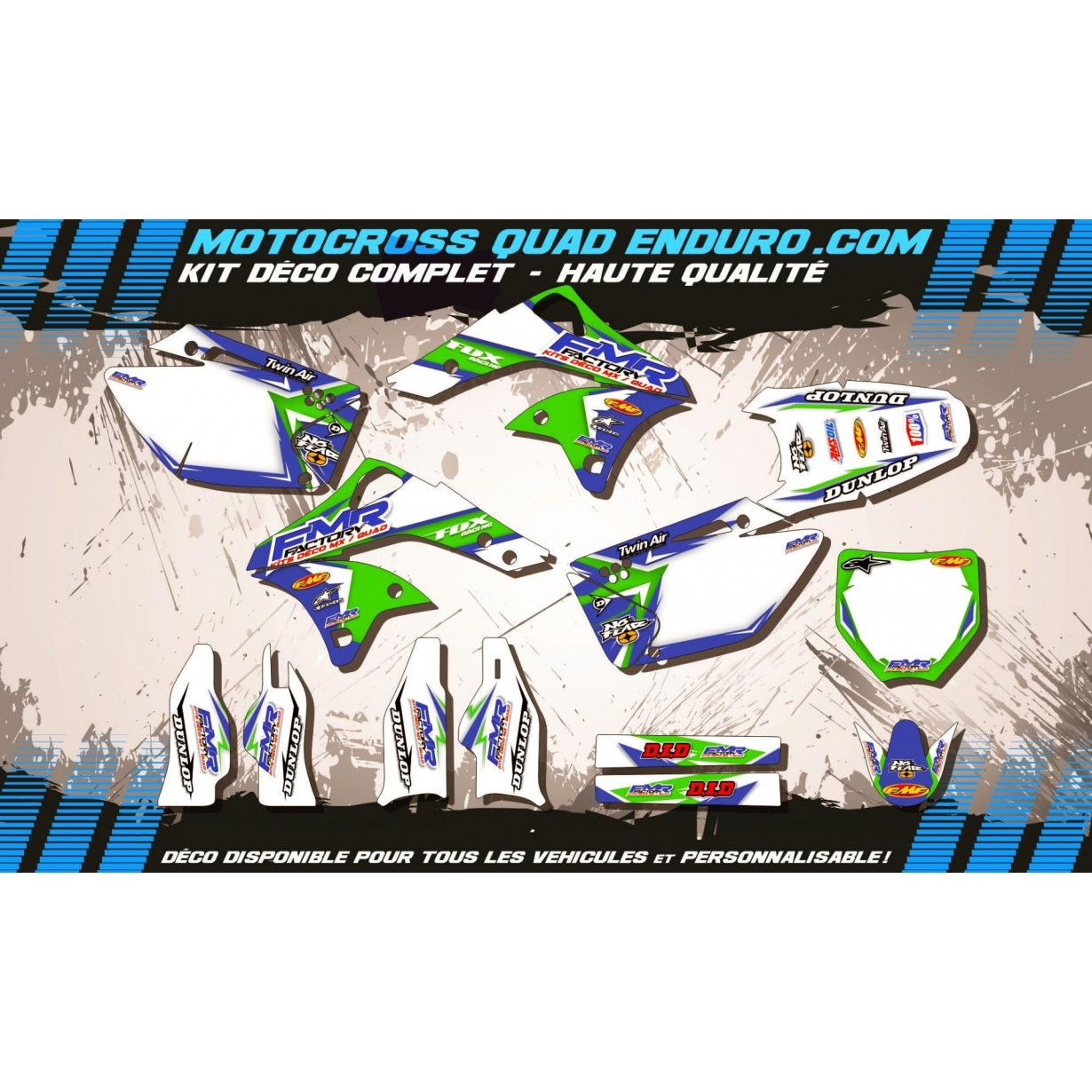 KIT DÉCO Perso 250 KXF 06-08 Fmr Factory MA13B