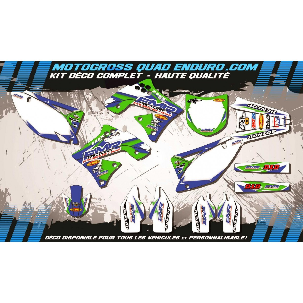 KIT DÉCO Perso 250 KXF 09-12 Fmr Factory MA13B