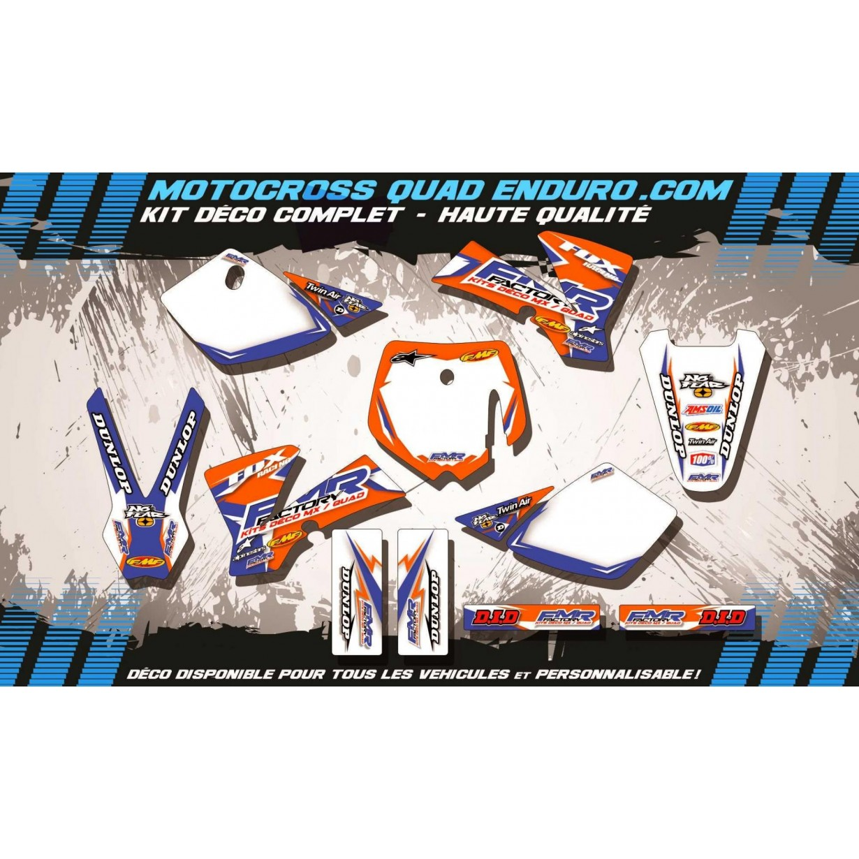 KIT DÉCO Perso 50 SX 02-08 Fmr Factory MA13C