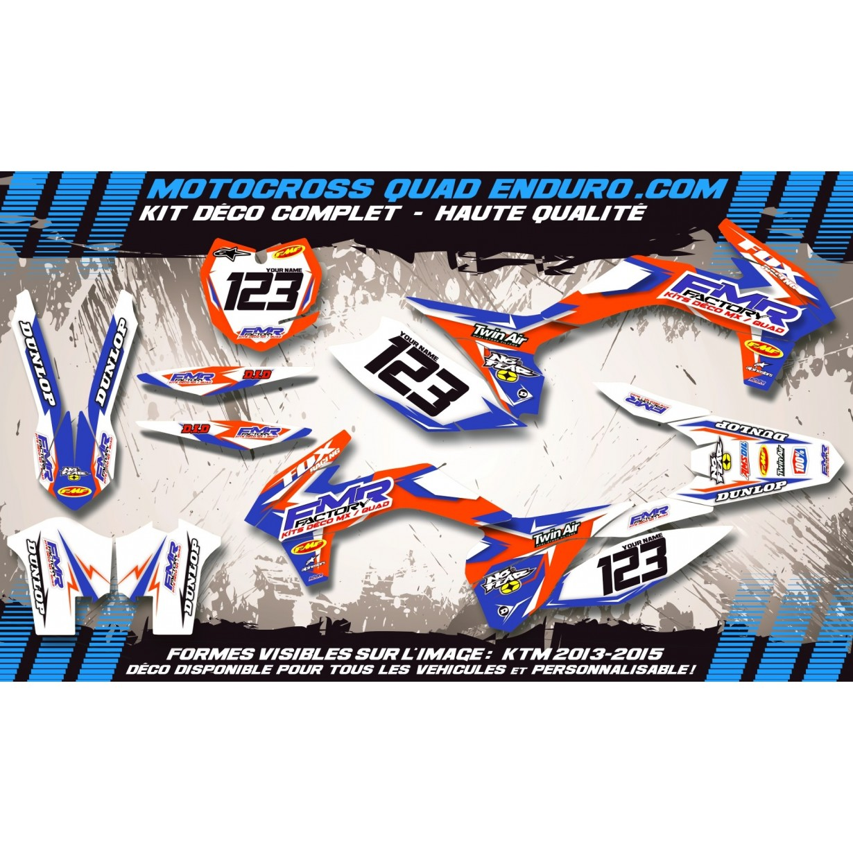KIT DÉCO Perso 450 Rally DAKAR Fmr Factory MA13C