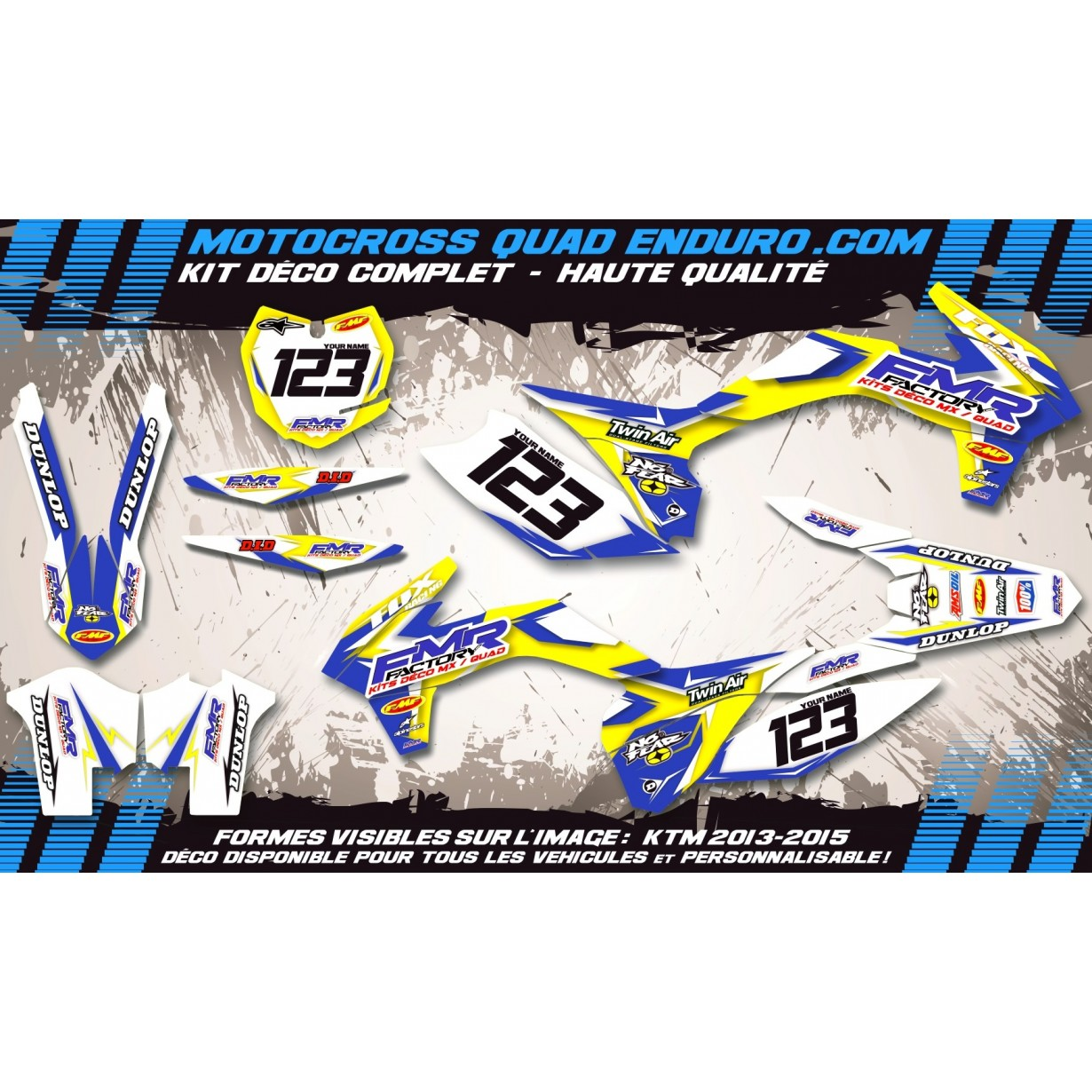 KIT DÉCO Perso CR-TC 125-250 00-04 Fmr Factory MA13D