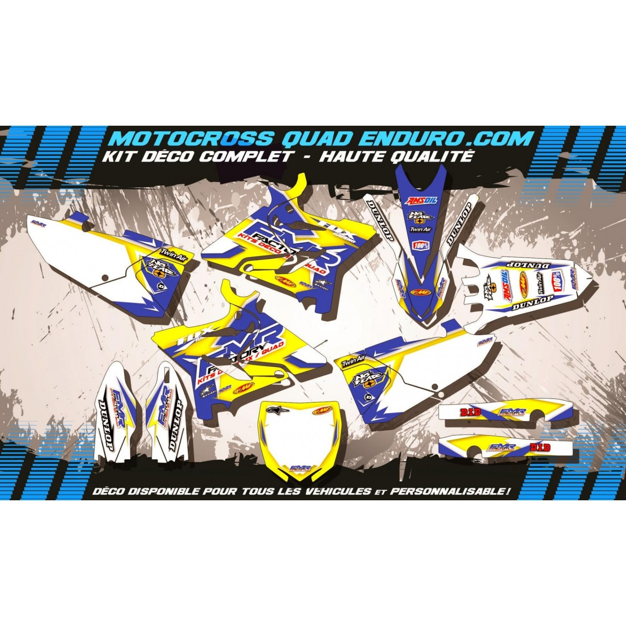 KIT DÉCO Perso 125-250 YZ 15-17 Fmr Factory MA13D