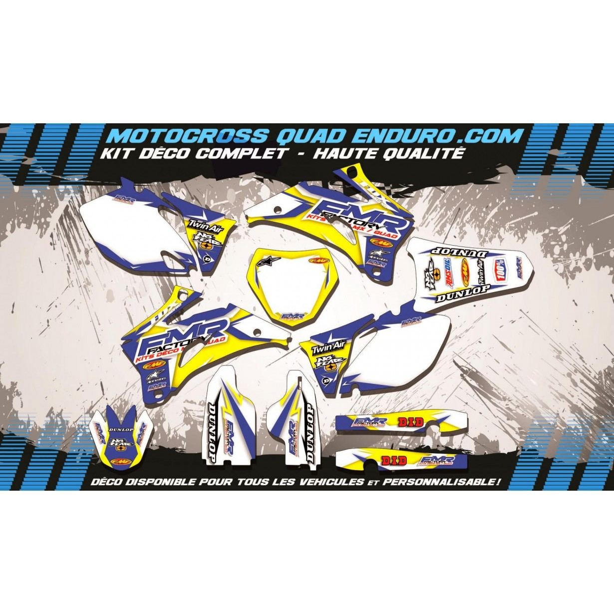KIT DÉCO Perso 250 / 450 YZF 06-09 Fmr Factory MA13D